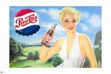 Pepsi - Girl in Green Meadow, 1951 Artwork Wall Decal