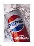Pepsi - New Generation Can in Ice 1987 Ad Wall Decal