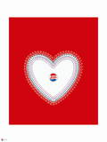 Pepsi - Love, Heart and Bottle Cap Wall Decal