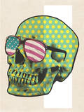 Polk-a-dot Skull in American Shades Wall Decal by  Junk Food