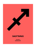Sagittarius Zodiac Sign Black Prints