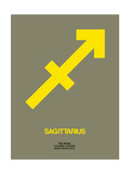 Sagittarius Zodiac Sign Yellow Prints by  NaxArt
