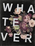 WHATEVER … and Vintage Floral Design Muursticker van  Junk Food