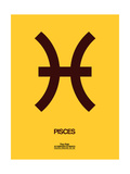 Pisces Zodiac Sign Brown Posters