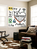 Enjoy Life - Line Art and Symbols Wall Mural by  Junk Food