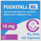 FUCKITALL Rx Prescription Wall Decal by  Junk Food