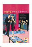 Pepsi - Young Fair Debonair Party, Vintage 1959 Ad Wall Decal