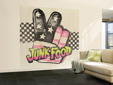 Checkerboard Throwback Wall Mural – Large by  Junk Food