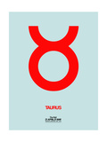 Taurus Zodiac Sign Red Prints by  NaxArt