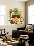 Tropical Medley - Pineapple Wearing Sunglasses Wall Mural by  Junk Food