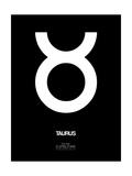 Taurus Zodiac Sign White Prints by  NaxArt