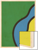 Abstract - Green Blue Yellow Wood Print by  Junk Food