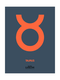 Taurus Zodiac Sign Orange Prints by  NaxArt