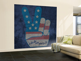 Peace Symbol - Loud and Proud Wall Mural – Large by  Junk Food