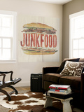 JUNKFOOD Meat Sandwich Wall Mural by  Junk Food