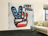 Stencil Style Wall Mural – Large by  Junk Food