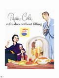 Pepsi - Couple at Dinner, 1954 Ad Wall Decal