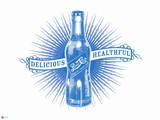 Pepsi - Delicious and Healthful: Early 1900s Graphic Wall Decal