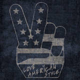 Peace Symbol - Love American Style Wall Decal by  Junk Food