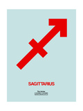 Sagittarius Zodiac Sign Red Print by  NaxArt