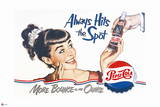 Pepsi - Always Hits the Spot 1950 Ad Wall Decal