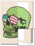 Polk-a-dot Skull in American Shades Poster by  Junk Food