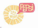 Pepsi - Say the Word, Retro Graphic Wall Decal