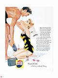 Pepsi - Beach Couple 1, 1950s Magazine Ad Wall Decal
