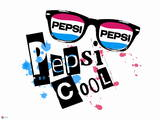 Pepsi Cool - New Wave 1980's Sunglass Splatter Graphic Wall Decal