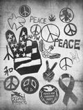 Peace Symbols Wall Decal by  Junk Food
