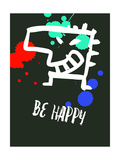 Be Happy 2 Poster by Lina Lu