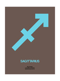 Sagittarius Zodiac Sign Blue Prints by  NaxArt