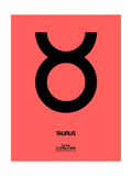 Taurus Zodiac Sign Black Poster