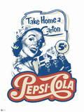 Pepsi - Vintage 1950s Take Home a Carton Graphic Wall Decal