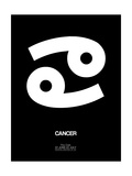 Cancer Zodiac Sign White Posters by  NaxArt