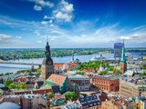 Aerial View of Riga Center from St. Peter's Church, Riga, Latvia Photographic Print by  f9photos