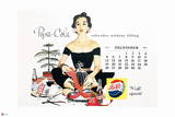 Pepsi - Vintage Pepsi Girl: 1954 Calendar: December Wall Decal