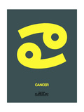 Cancer Zodiac Sign Yellow Art