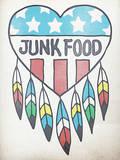 Heart and Feathers Design Muursticker van  Junk Food