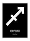 Sagittarius Zodiac Sign White Posters by  NaxArt