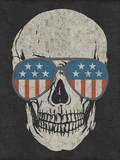 Skull and American Flag Shades Vinilo decorativo por Junk Food