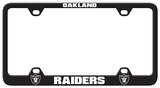 Oakland Raiders Laser License Plate Frame Novelty