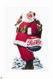 Pepsi - Santa with Bottle of Cola Cut Out 1953 Display Wall Decal