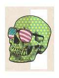 Polk-a-dot Skull in American Shades Metal Print by  Junk Food