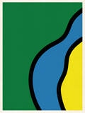 Abstract - Green Blue Yellow Wall Decal by  Junk Food