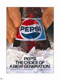 Pepsi Generation Bottle on Ice 1987 Ad Wall Decal