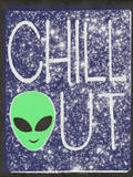 Chill Out - Alien Head Design Wall Decal by  Junk Food