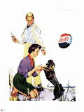 Pepsi - Couple with Dog, 1954 Ad Wall Decal