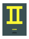 Gemini Zodiac Sign Yellow Poster