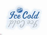 Ice Cold Pepsi Cola Mirror Image Graphic Wall Decal